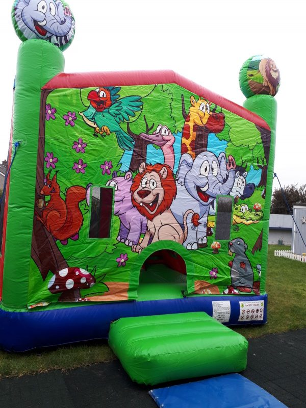 Jungle Theme Bouncy Castle