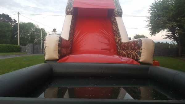 Total Wipe Out Bouncy Castle Obstacle Course with Splash Pool Add On